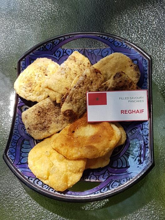 Filled savoury pancakes (Reghaif)