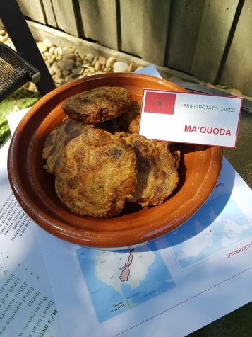 Fried potato cakes (Ma'quoda)