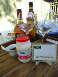 Ingredients for coffee cocktail