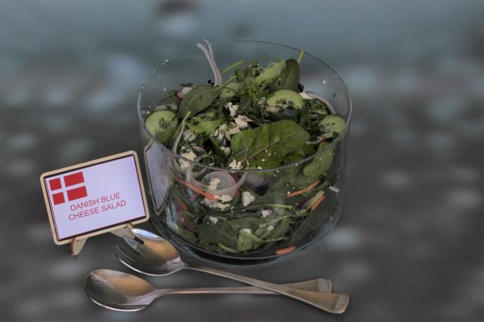Danish blue-cheese salad