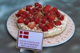 White chocolate and licorice pie
