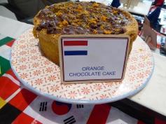 Orange choc cake